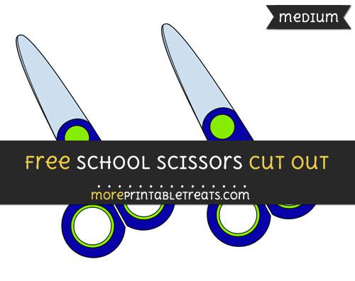 Free School Scissors Cut Out - Medium Size Printable