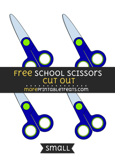Free School Scissors Cut Out - Small Size Printable