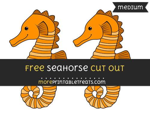 Free Seahorse Cut Out - Medium Size Printable