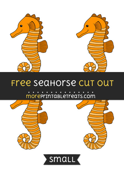 Free Seahorse Cut Out - Small Size Printable
