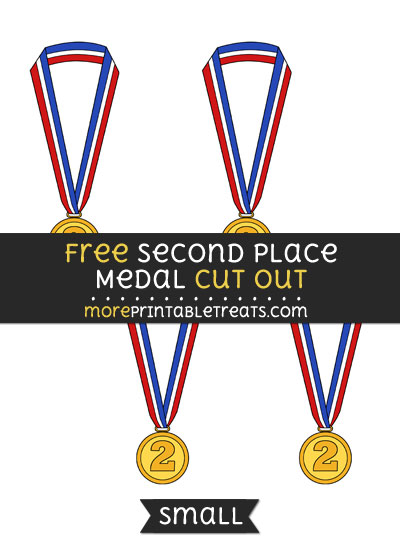 Free Second Place Medal Cut Out - Small Size Printable