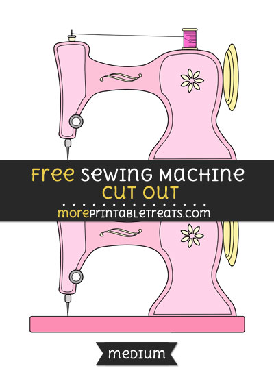 Free Sewing Machine Cut Out - Medium Size Printable