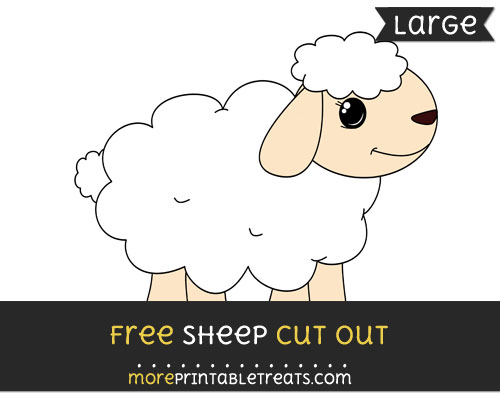 Free Sheep Cut Out - Large size printable