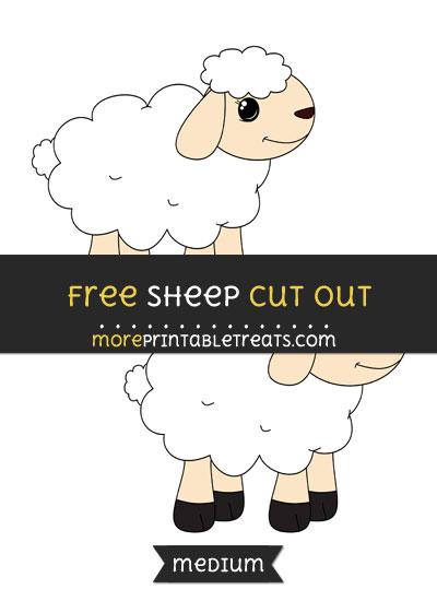 Free Sheep Cut Out - Medium Size Printable