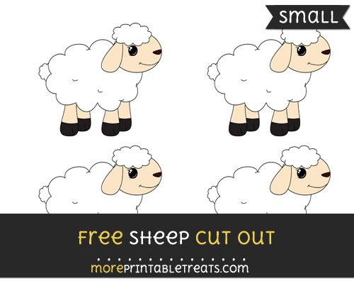 Free Sheep Cut Out - Small Size Printable