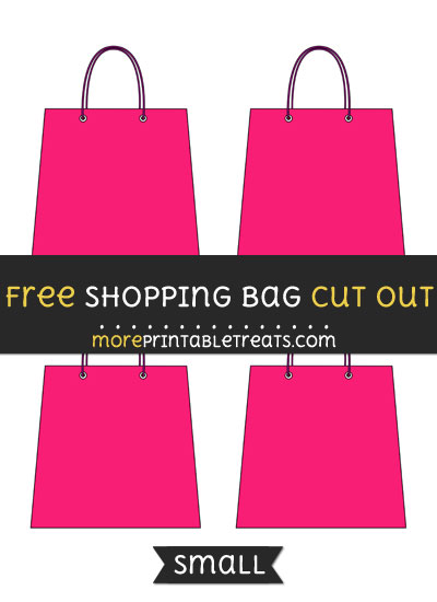 Free Shopping Bag Cut Out - Small Size Printable