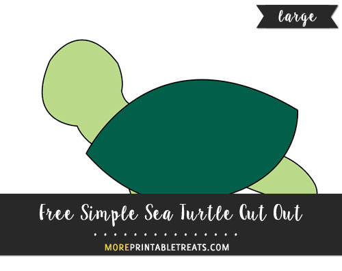 Free Simple Sea Turtle Cut Out - Large