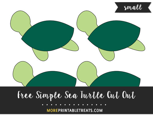 Free Simple Sea Turtle Cut Out - Small
