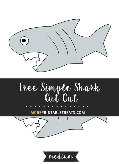 Free Simple Shark Cut Out - Medium