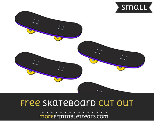 Free Skateboard Cut Out - Small Size Printable