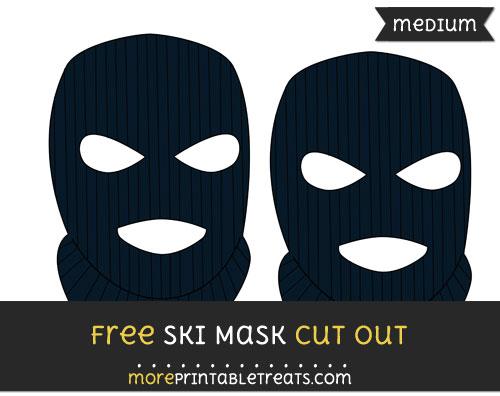 Free Ski Mask Cut Out - Medium Size Printable