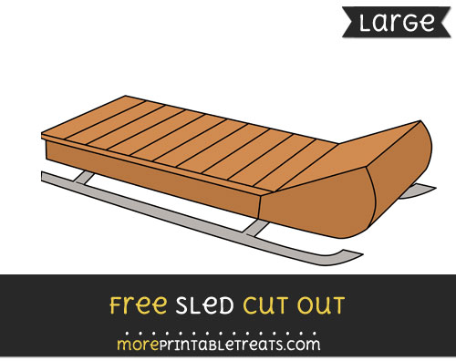 Free Sled Cut Out - Large size printable