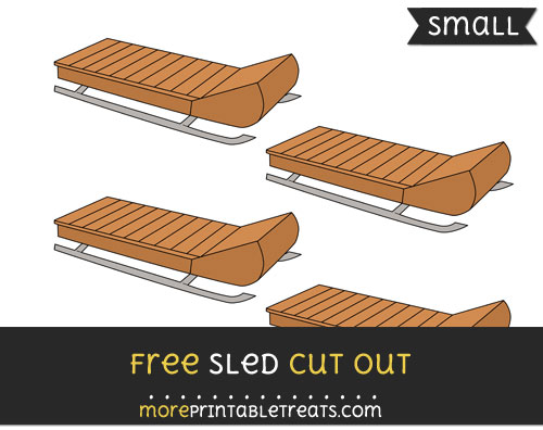 Free Sled Cut Out - Small Size Printable