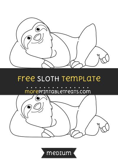 sloth template medium