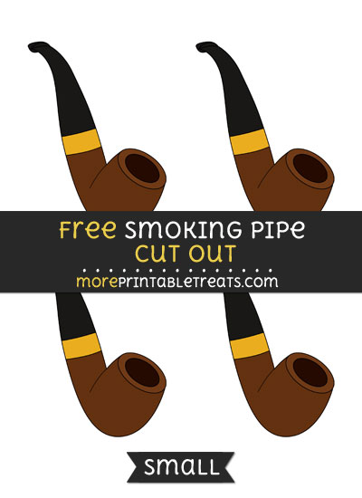 Free Smoking Pipe Cut Out - Small Size Printable