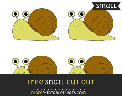 Free Snail Cut Out - Small Size Printable