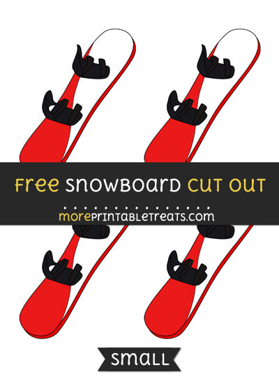 Free Snowboard Cut Out - Small Size Printable