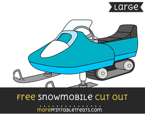 Free Snowmobile Cut Out - Large size printable