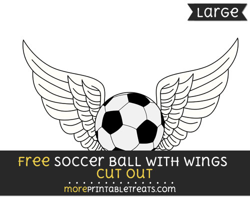 Free Soccer Ball With Wings Cut Out - Large size printable