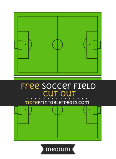 Free Soccer Field Cut Out - Medium Size Printable