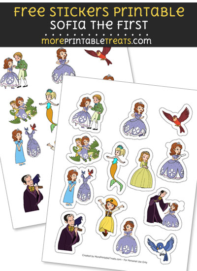 FREE Sofia the First Stickers Printable to Print at Home