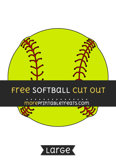 Free Softball Cut Out - Large size printable