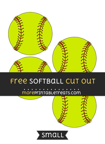 Free Softball Cut Out - Small Size Printable