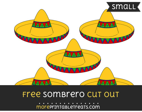 Free Sombrero Cut Out - Small Size Printable