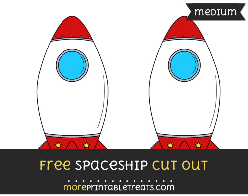 Free Spaceship Cut Out - Medium Size Printable