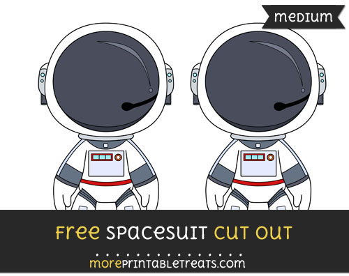 Free Spacesuit Cut Out - Medium Size Printable