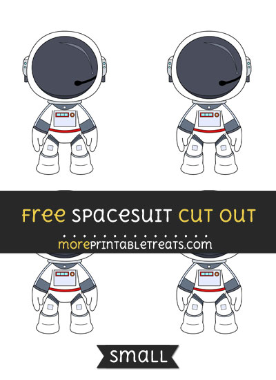 Free Spacesuit Cut Out - Small Size Printable