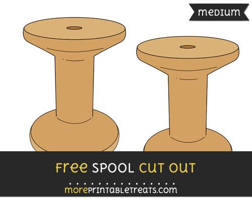 Free Spool Cut Out - Medium Size Printable