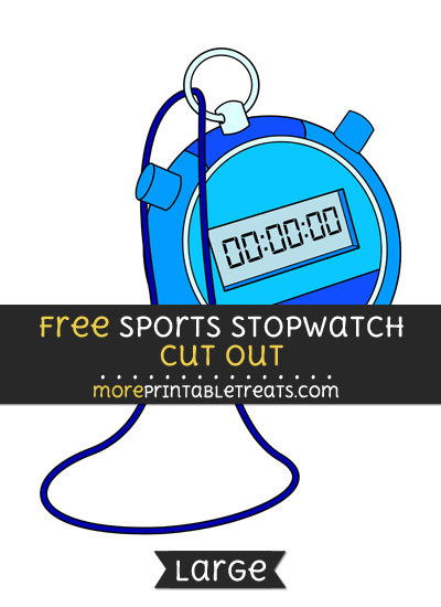 Free Sports Stopwatch Cut Out - Large size printable