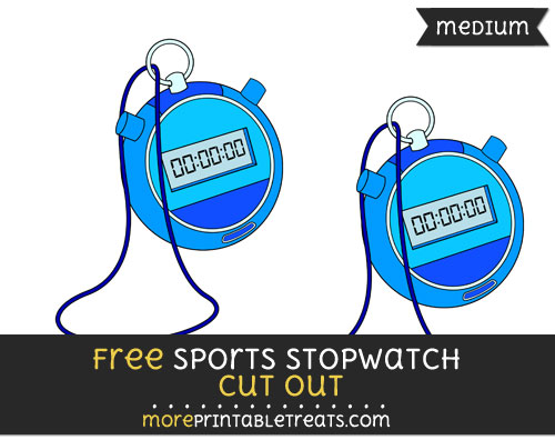 Free Sports Stopwatch Cut Out - Medium Size Printable