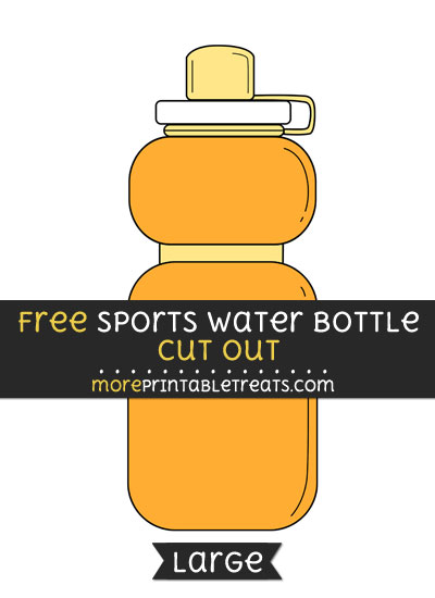 Free Sports Water Bottle Cut Out - Large size printable