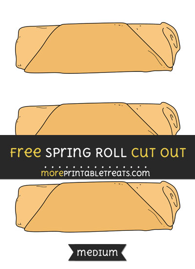 Free Spring Roll Cut Out - Medium Size Printable