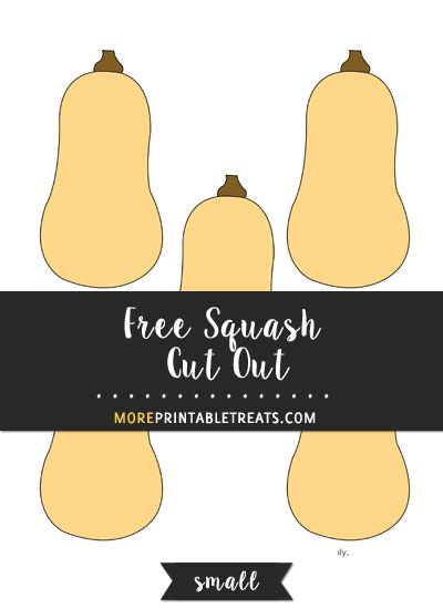 Free Squash Cut Out - Small