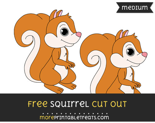 Free Squirrel Cut Out - Medium Size Printable