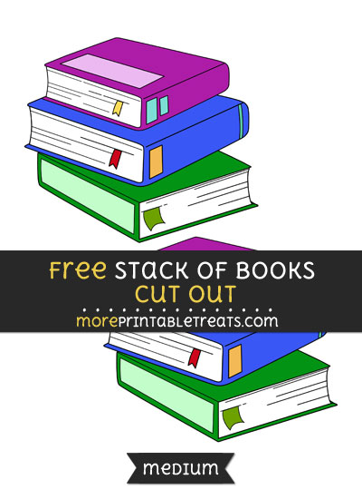 Free Stack Of Books Cut Out - Medium Size Printable
