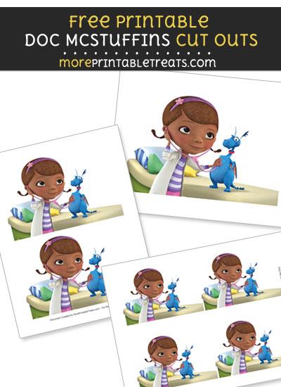 Free Stuffy McStuffins Doctor Check Up Cut Outs - Printable - Doc McStuffins