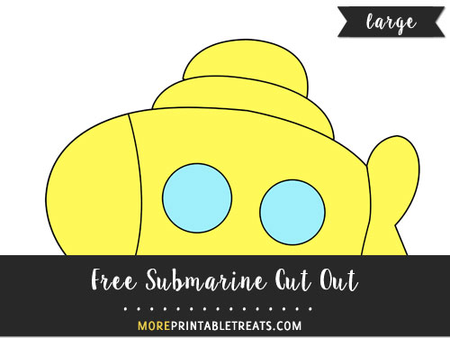 Free Submarine Cut Out - Large