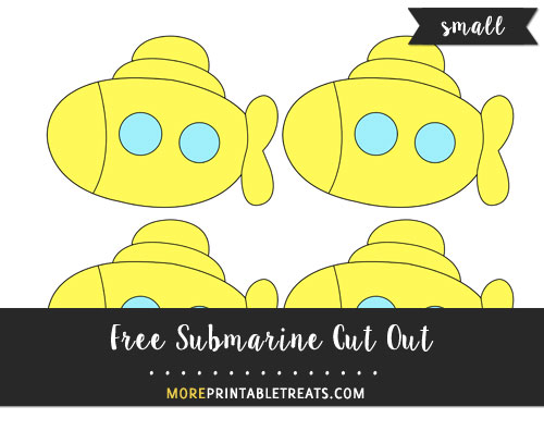 Free Submarine Cut Out - Small