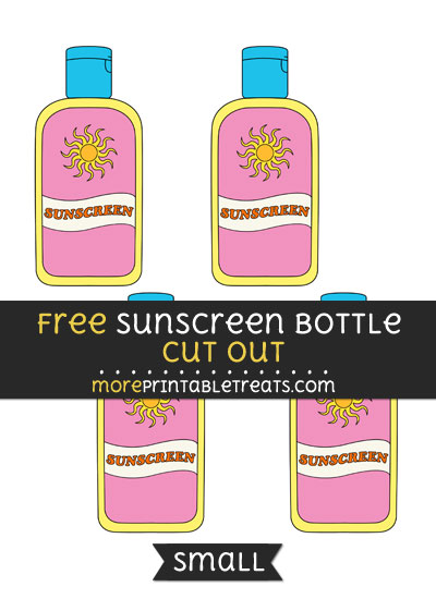 Free Sunscreen Bottle Cut Out - Small Size Printable