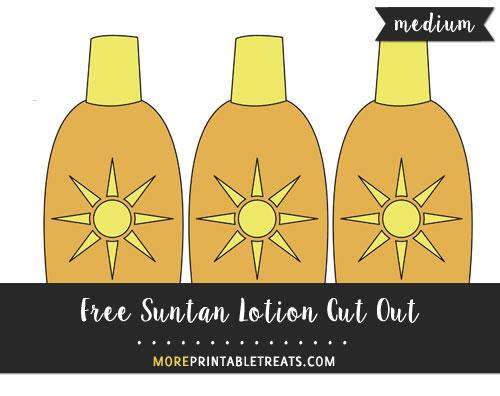 Free Suntan Lotion Cut Out - Medium