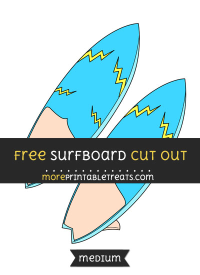 Free Surfboard Cut Out - Medium Size Printable