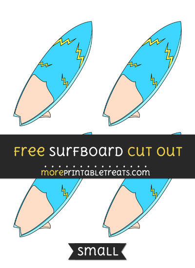 Free Surfboard Cut Out - Small Size Printable