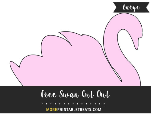 Free Swan Cut Out - Large
