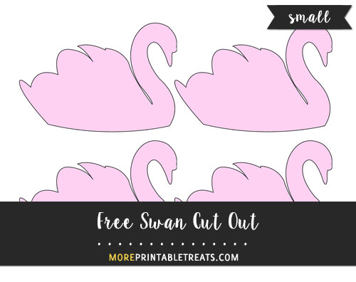 Free Swan Cut Out - Small