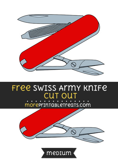 Free Swiss Army Knife Cut Out - Medium Size Printable