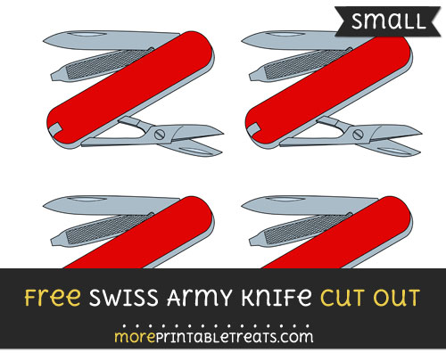 Free Swiss Army Knife Cut Out - Small Size Printable